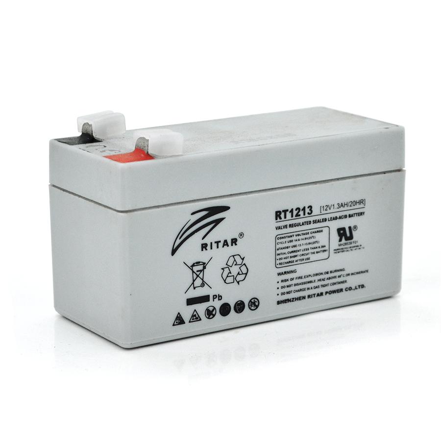 Купить Аккумуляторная батарея AGM RITAR RT1213, Gray Case, 12V 1.3Ah  ( 98 х 44 х 53 (59) ) Q20