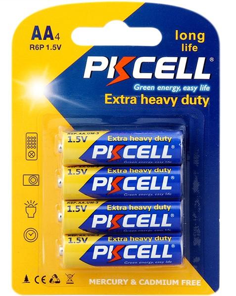 Купить Батарейка солевая PKCELL 1.5V AA/R6, 2 штуки в блистере цена за блистер