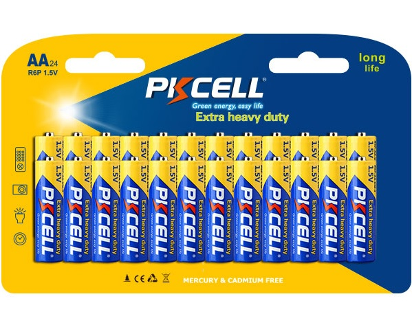 Купить Батарейка солевая PKCELL 1.5V AA/R6, 12 штук в блистере цена за блистер