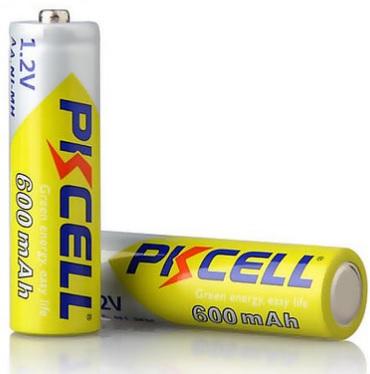 Купить Аккумулятор PKCELL 1.2V AA 600mAh NiMH Rechargeable Battery, 2 штуки в блистере цена за блистер