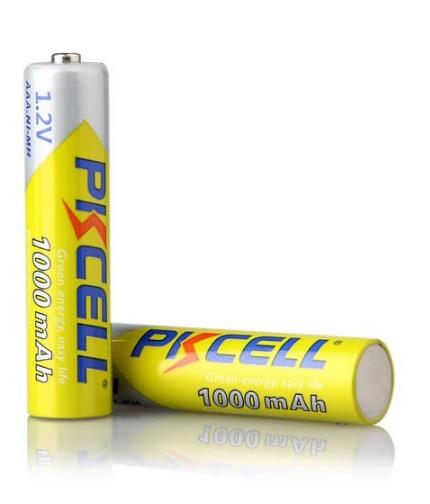 Купить Аккумулятор PKCELL 1.2V  AAA 1000mAh NiMH Rechargeable Battery, 2 штуки в блистере цена за блистер