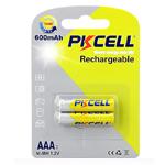 Купить Аккумулятор PKCELL 1.2V  AAA 600mAh NiMH Rechargeable Battery, 2 штуки в блистере цена за блистер