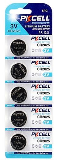 Купить Батарейка литиевая PKCELL CR2025, 5 шт в блистере (упак.100 штук) цена за блист. Q30