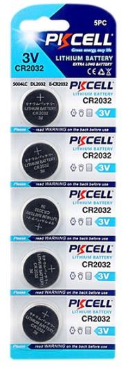 Купить Батарейка литиевая PKCELL CR2032, 5 шт в блистере (упак.100 штук) цена за блист.Q30