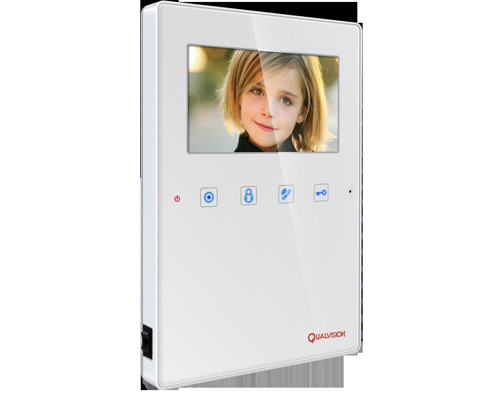 """Купить Видеодомофон Qualvision QV-IDS4407 белый 4"""" цветной монитор"""