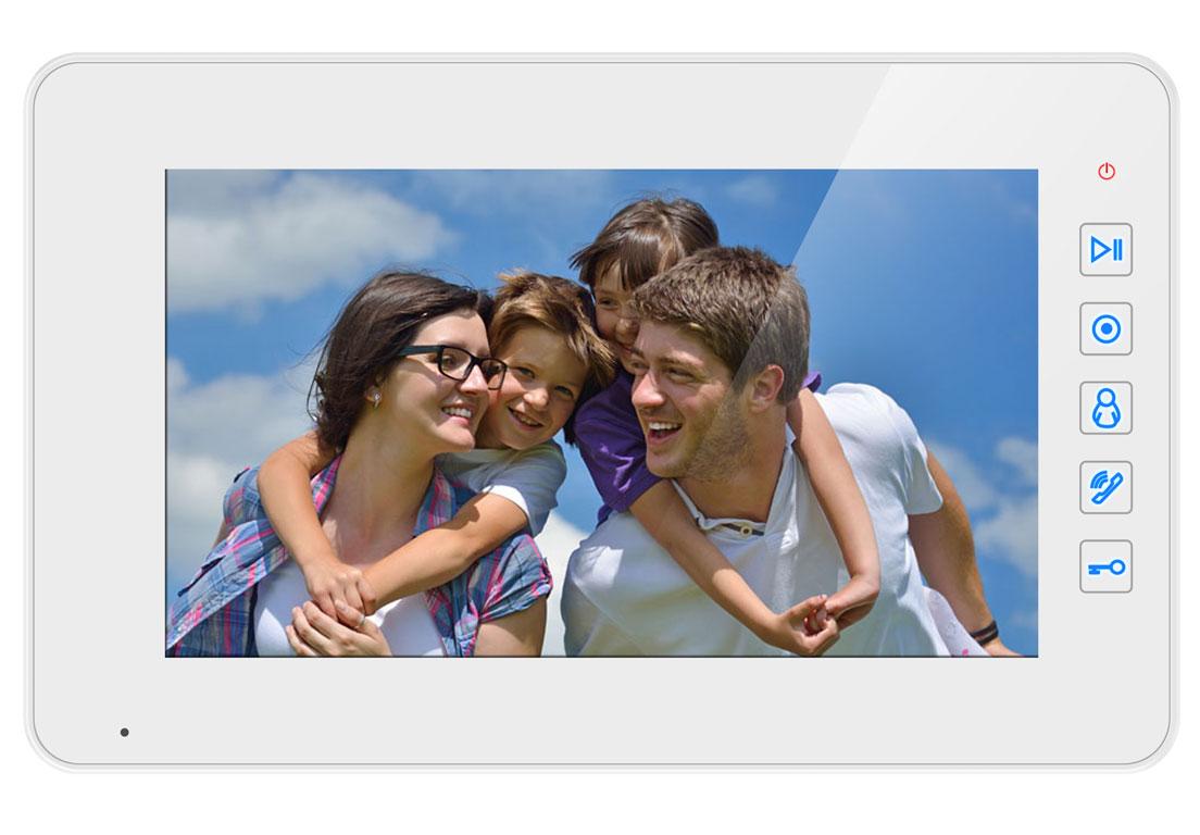 """Купить Видеодомофон Qualvision QV-IDS4739 белый 7"""" цветной монитор (подключение 4-вызывных панелей )"""