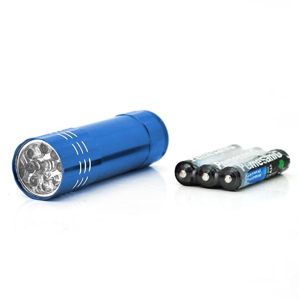 Купить Карманный фонарик Bailong BL-С709, 1LED, 1 режим, корпус- алюминий, питание 3*АА, 85*25мм, Blue, ОЕМ