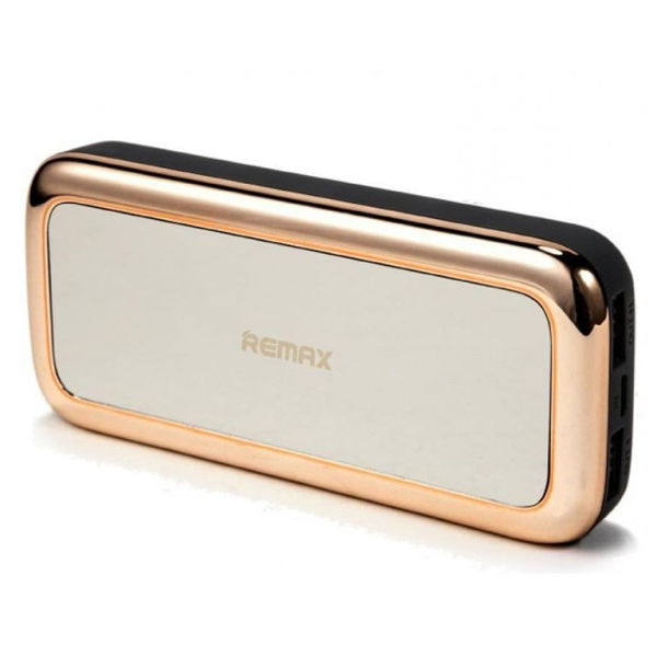 Купить Powerbank (Polymer Battery) Remax Mirror RPP-36, 1xUSB, 5V, 1A, 10000mAh, Gold, Blister