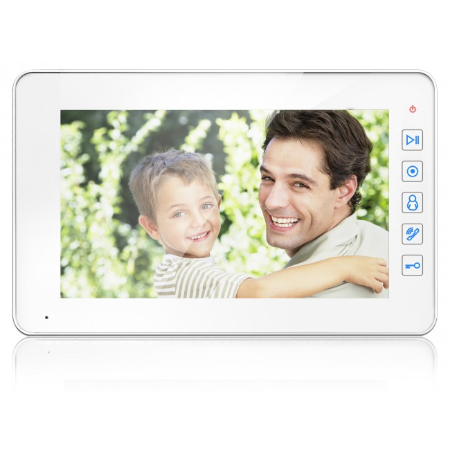 """Купить Видеодомофон Qualvision QV-IDS4737 белый 7"""" цветной монитор"""