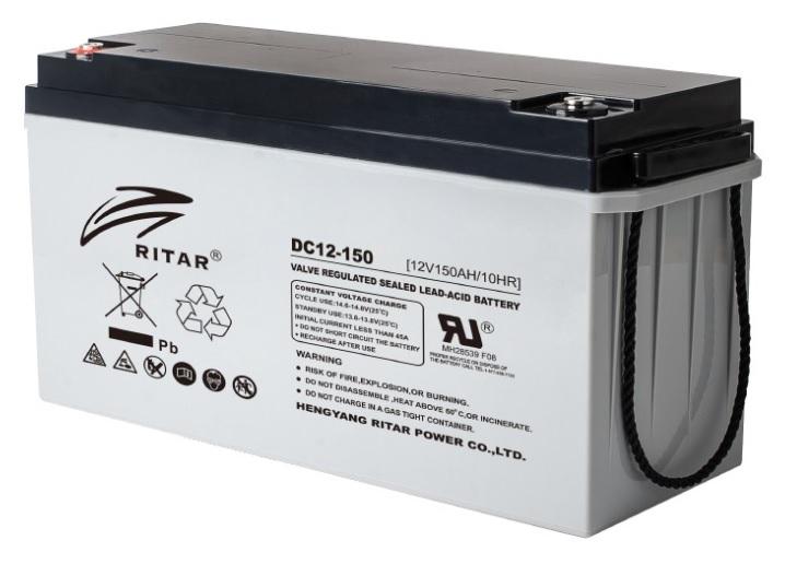 Купить Аккумуляторная батарея AGM RITAR DC12-150, Gray Case, 12V 150Ah