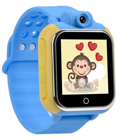 Купить Детские часы-телефон с GPS-трекером GW1000, цветн. сенс. экран 1.54